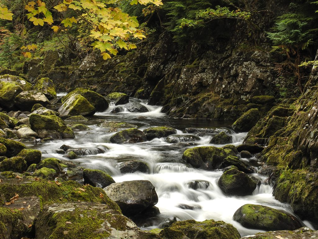 Photograph of a Waterfall and River in Betws Y Coed North Wales at the Welshot Roving Photographic Academy Evening