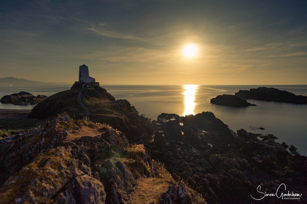 Photograph of Lighthouse on Llanddwyn Island Anglesey taken on a Welshot Photographic Academy Event Learning Low Light Camera Techniques